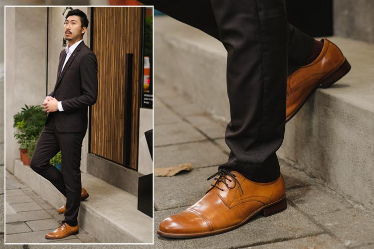穿搭鞋款: 簡潔Cap-Toe德比仕鞋 - Va192